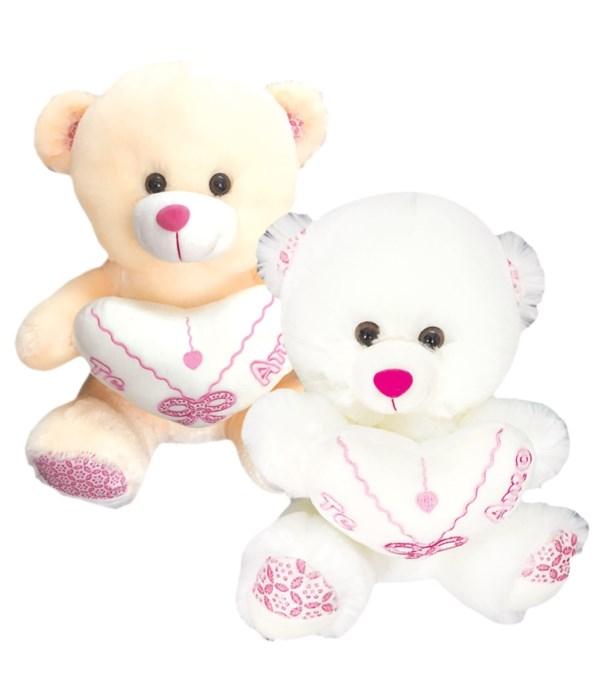 """9"""" bear w/heart 12s"""