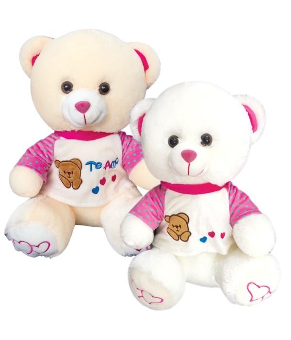 "16"" bear w/clothing Te Amo 12s"