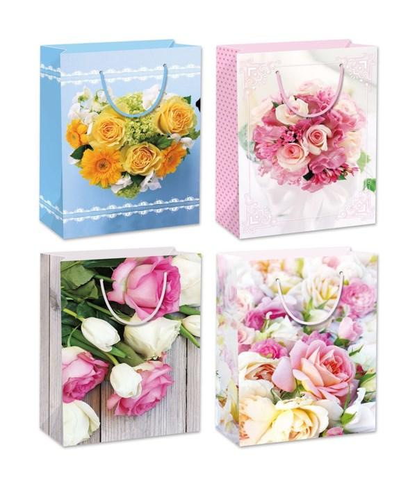 """floral bag 19.5x29x7""""/SG 72s"""