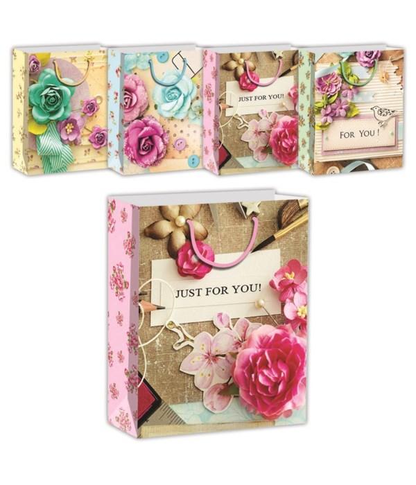 floral gift bag 3D+GLT 48s