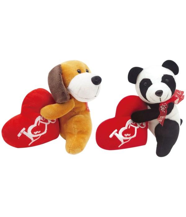 "6.3"" plush dog panda 12/144s"
