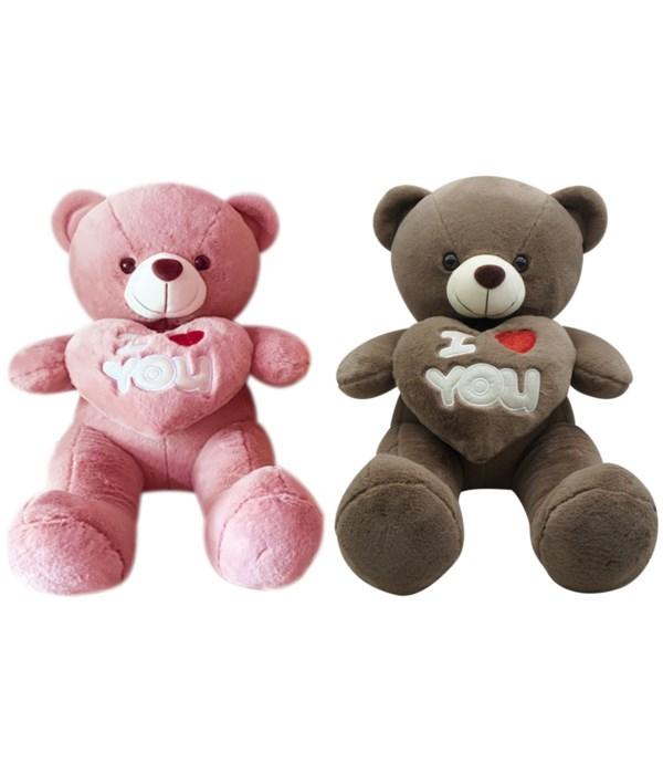 """14"""" bear w/heart 2-color 24s"""