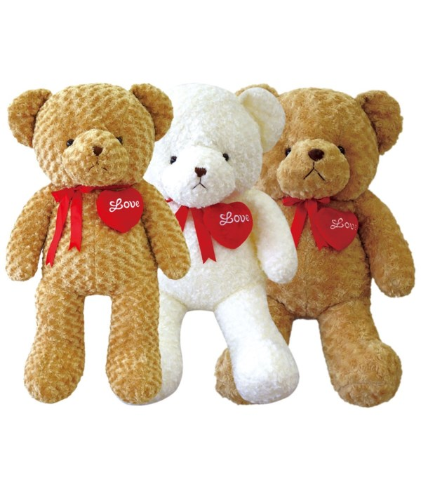 "40"" teddy bear 3-astd clr 4s"
