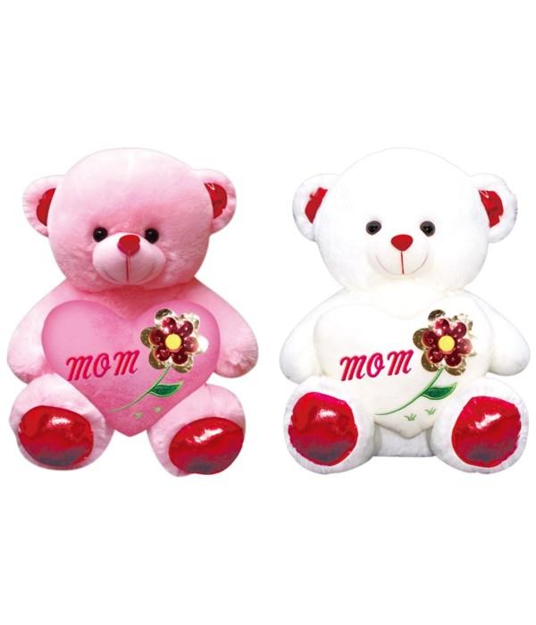 """12"""" bear w/heart #1 MOM 12s"""
