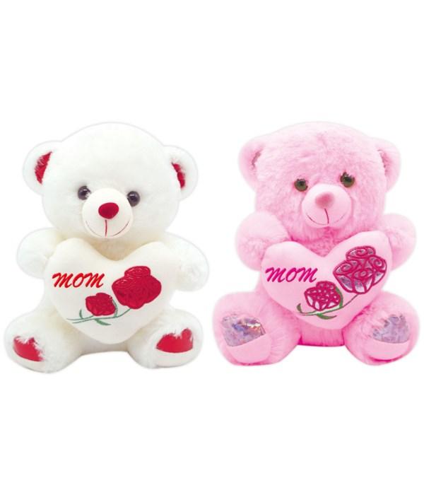 """16"""" bear w/heart MOM 12s"""