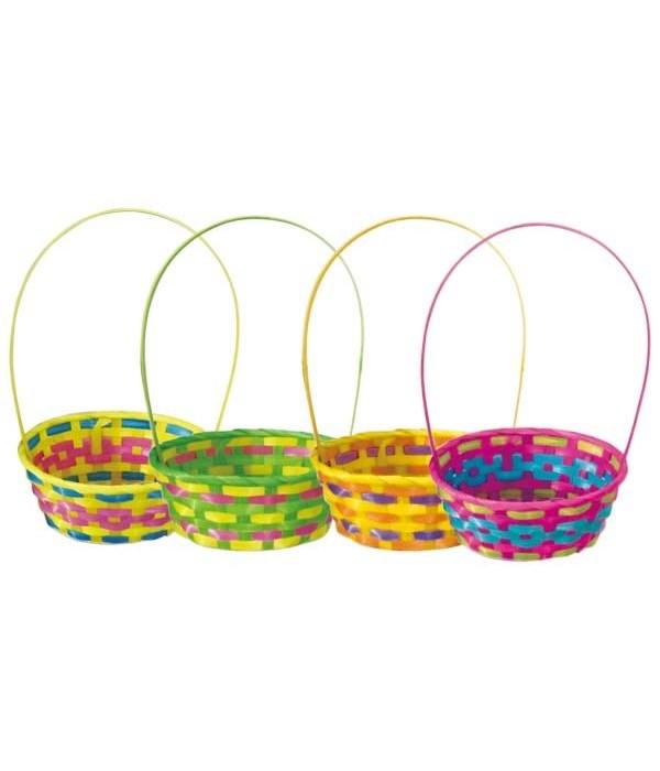 """ovel basket w/hdl 8""""x4.5h""""/48"""
