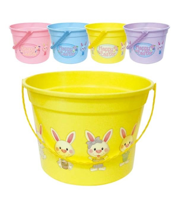"easter plastic bucket 8x5""h/48"