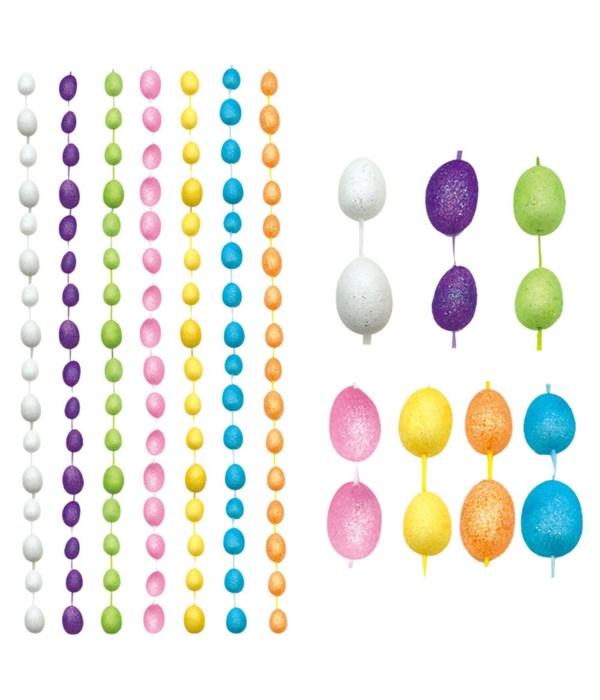"""60"""" foam egg garland 24/240s"""