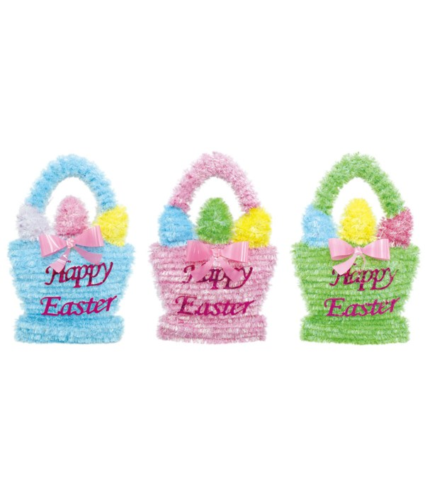 """easter tinsel deco 13X8""""/48s"""