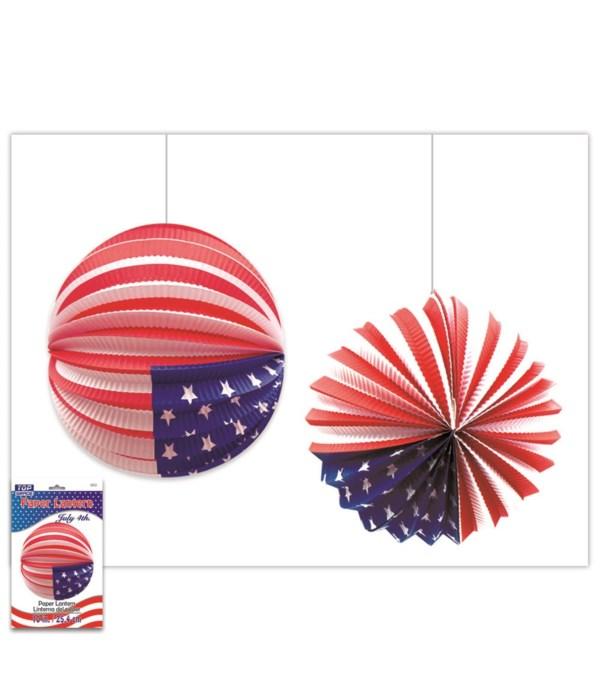 America USA flag lantern 6/198