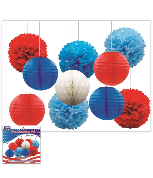July 4th honeycomb ball set