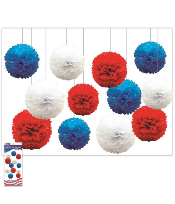 July 4th pom-pom flower set
