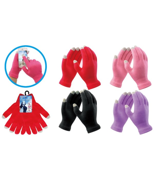 touch gloves astd clrs 12/72s