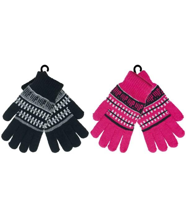 lady's knit gloves 12/144s