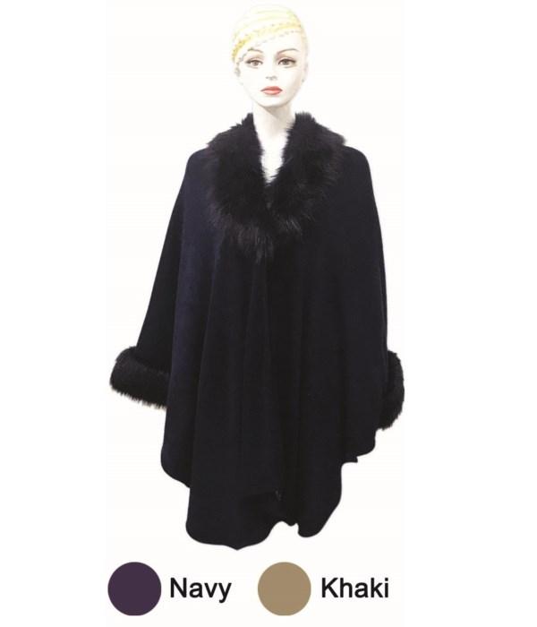 lady's cloak navy&khak. 6/24s