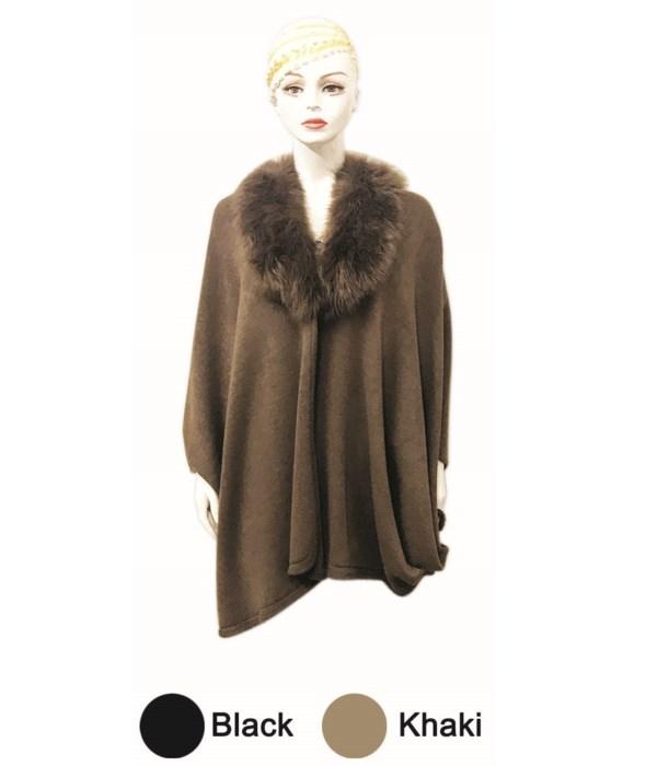 lady's cloak blk&khak.6/24s