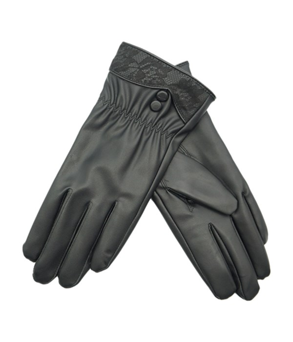 lady's faux leather gloves