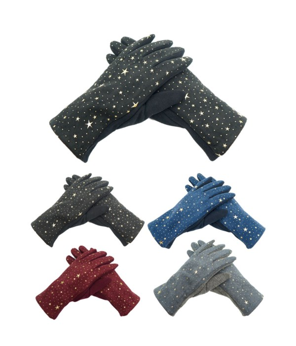 lady's star gloves 12/144s