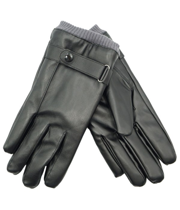 men's faux leather insulated