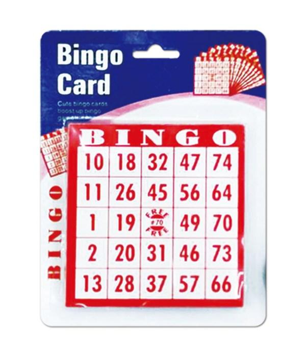 bingo card 48s