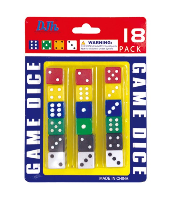 18pc game dice 48s