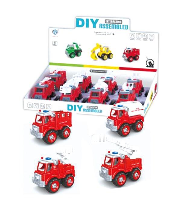 fire truck DIY assembled 8/192
