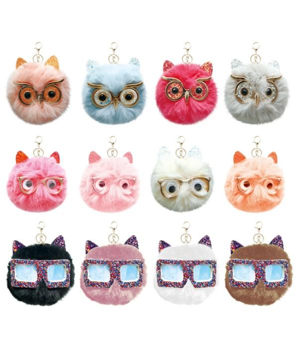 key chain owl 12/600s