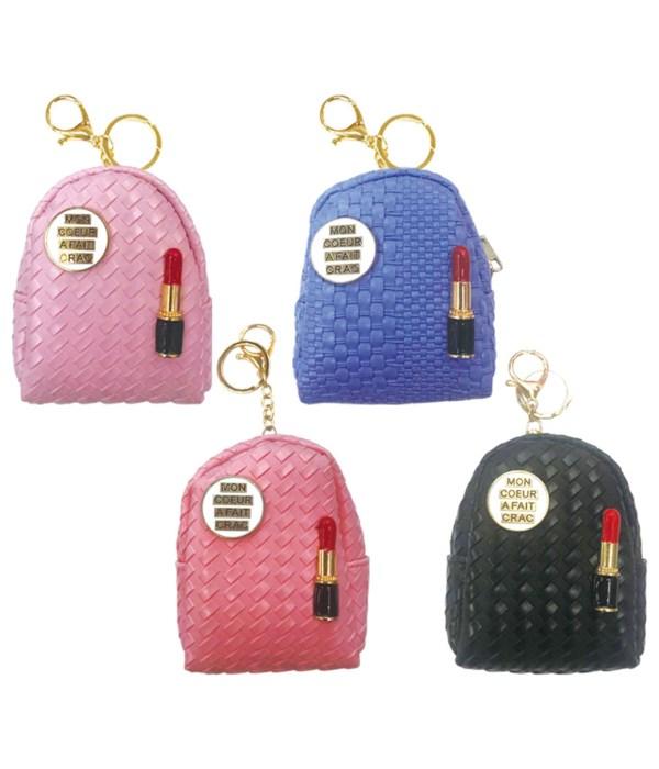 key chain bag lip stick 12/600