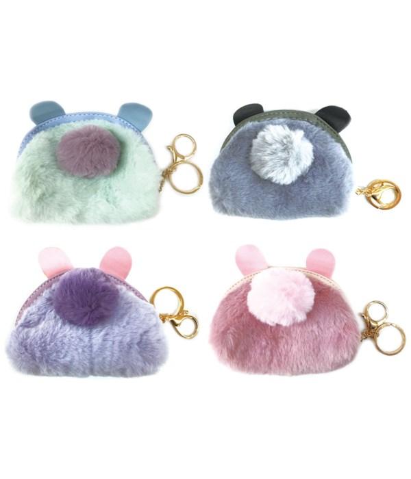 key chain fur purse 12/600s