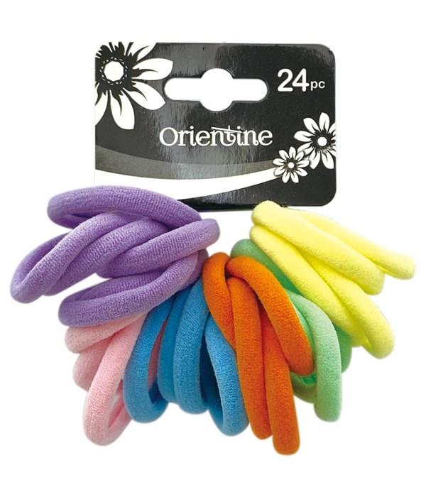 24ps elastic hair ties 12/300s