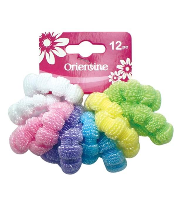 12ps elastic hair ties 12/300s