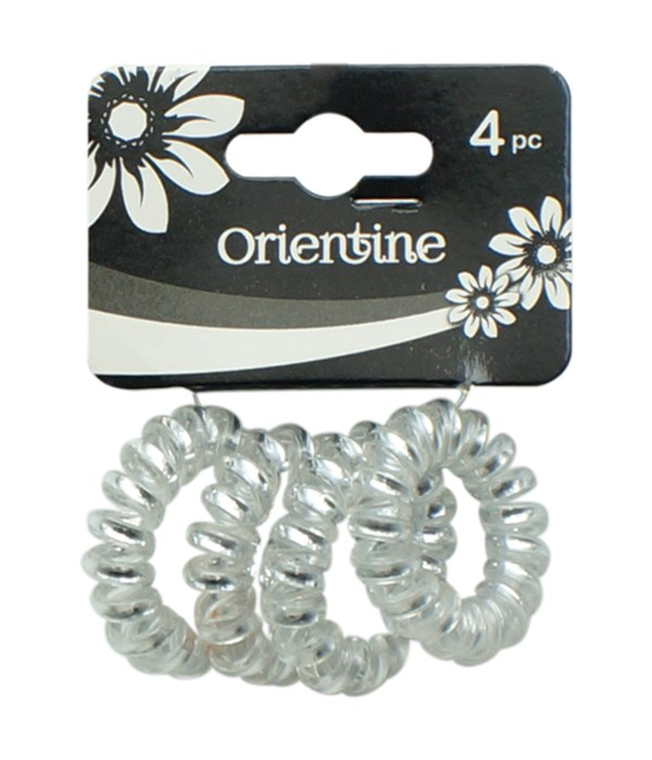 4ps coil hair ties wht 12/300s