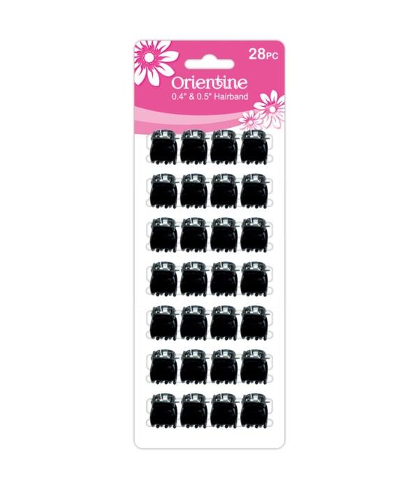 28ps mini claw clip blk 12/300