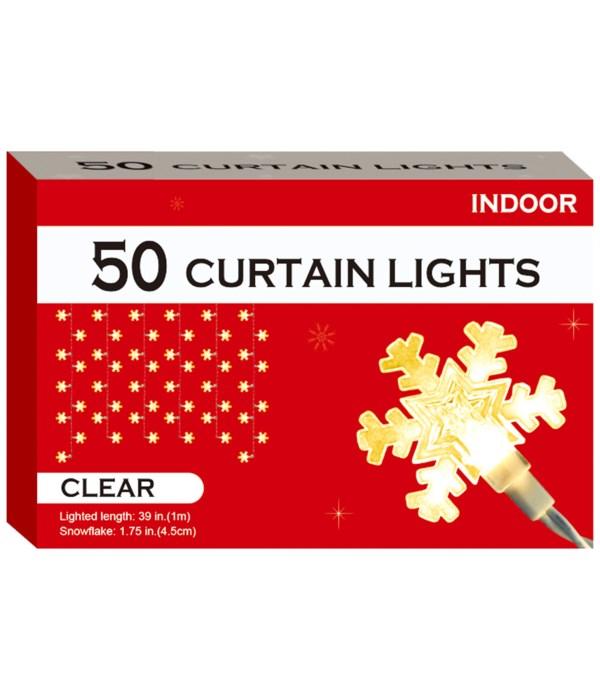 50-snowflake curtain light 12s