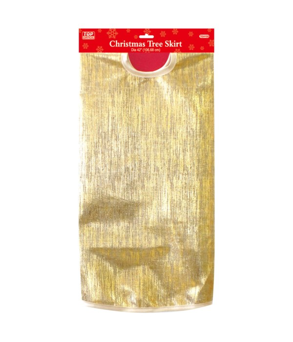 "36"" xmas tree skirt gold 12/36"