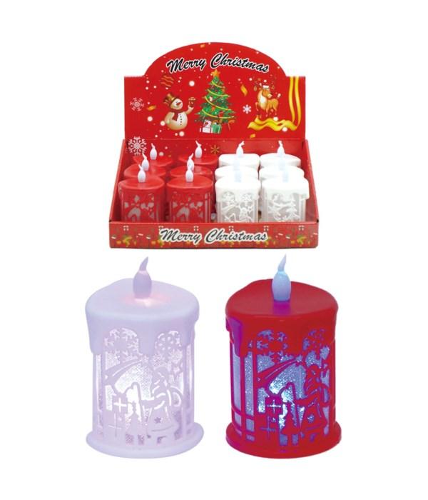 LED candle 8x6cm 12/360s