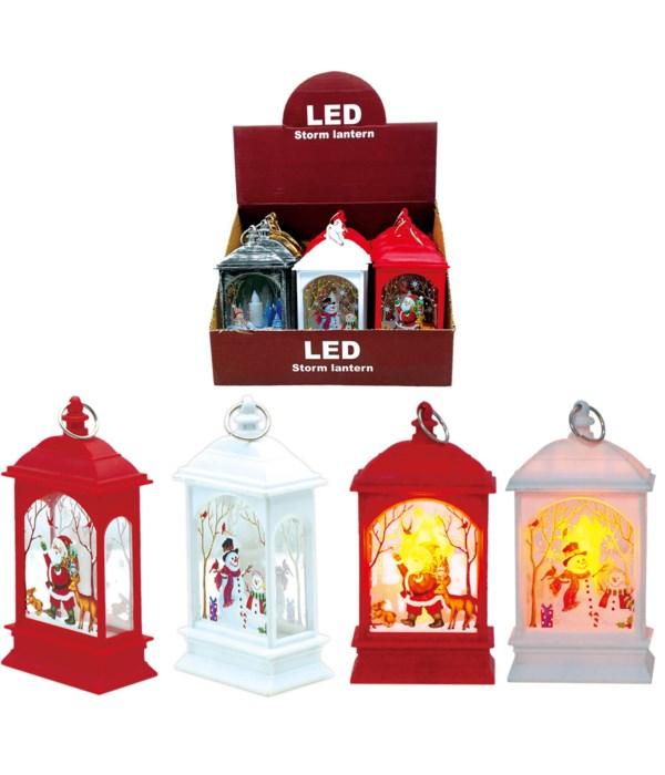 xmas LED lit 14x7x4cm 12/360s