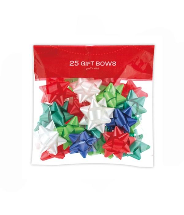 x'mas gift bows asst 25ct 48s