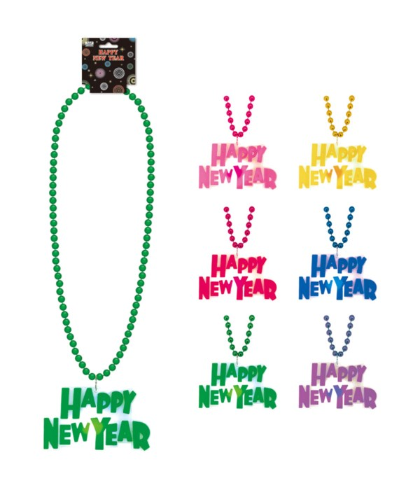 LED new year necklace 12/144s