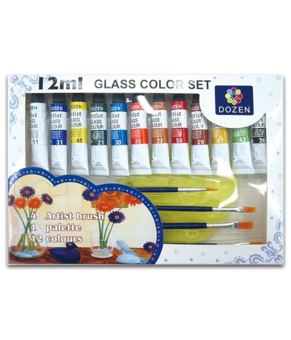 12ct/0.4oz glass color set