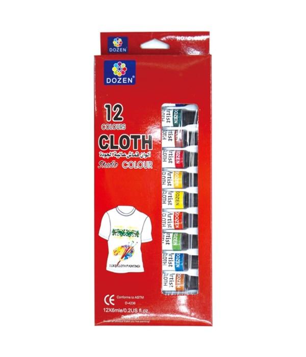 12ct/0.2oz cloth color set