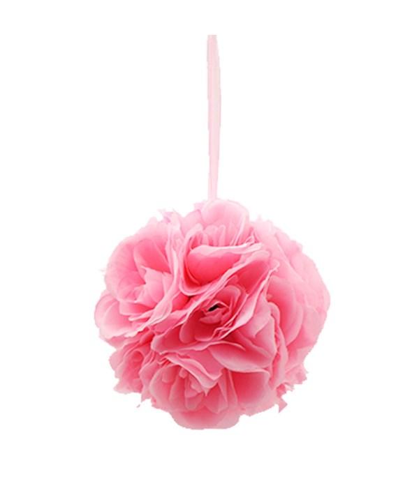 "8""silk pom flower bb-pink"