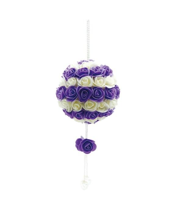 """13""""hanging rose ball 10s"""
