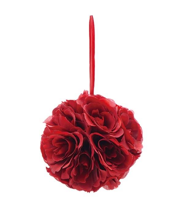 "6""silk pom flower burgandy"