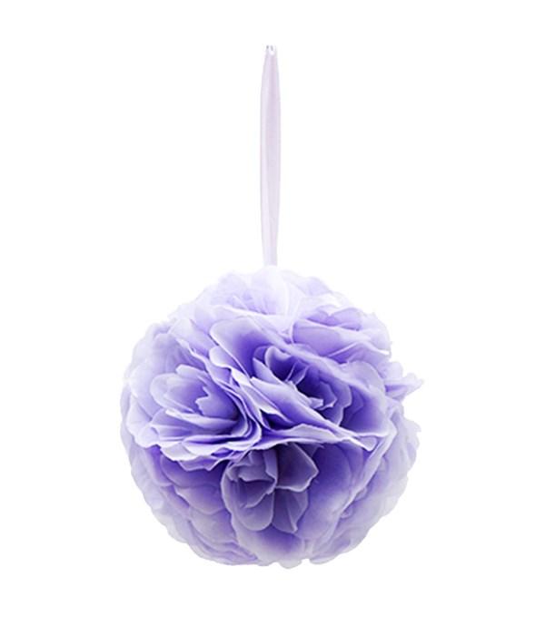 "10""silk pom flower laven 12/24"