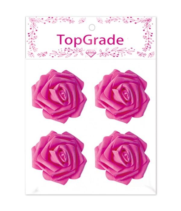 "3""/4ct foam rose H-pink 12/288"