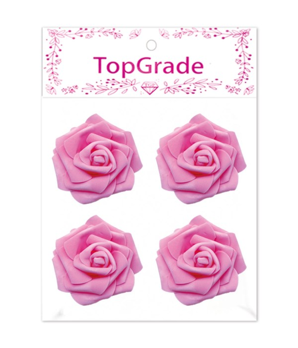 "3""/4ct foam rose bb-pink12/288"