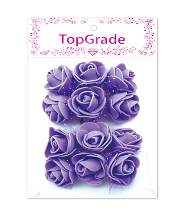 deco.foam rose purple 12/360s