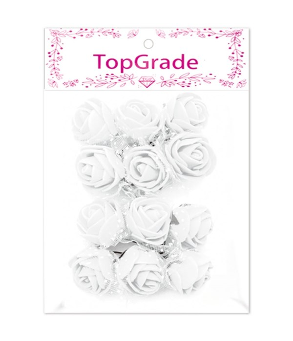deco.foam rose white 12/360s