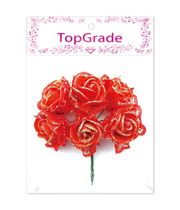 deco.foam rose red 12/600s